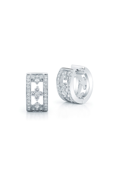 Kwiat - Jasmine White Gold Diamond Huggie Earrings