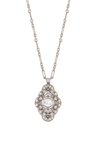 Kwiat - Vintage White Gold Diamond Pendant