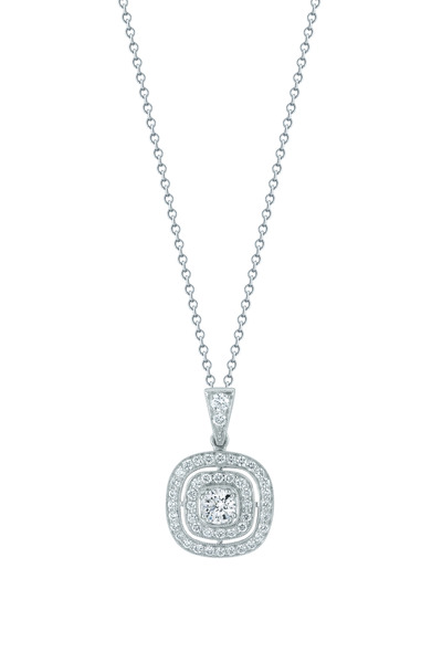 Kwiat - White Gold Diamond Silhouette Pendant