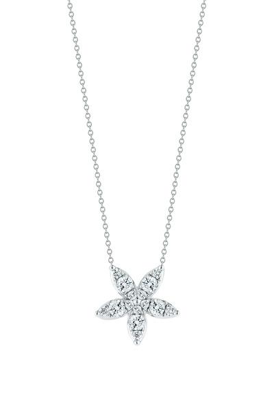 Kwiat - Sunburst White Gold Diamond Pendant