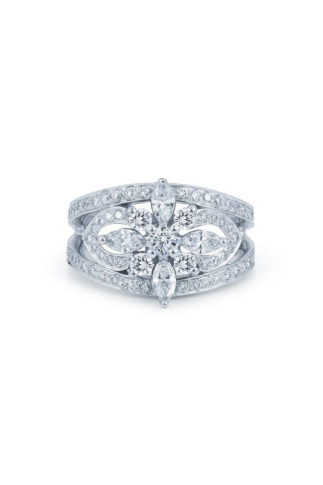 Star White Gold White Diamond Ring