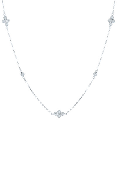 Kwiat - White Gold Diamond String Necklace