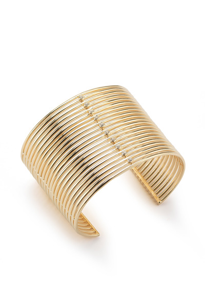 Elizabeth & James - Yellow Gold Berlin Wide Cuff Bracelet