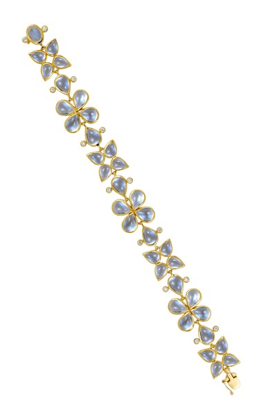 Temple St. Clair - Flower Cluster Blue Moonstone Bracelet, Small