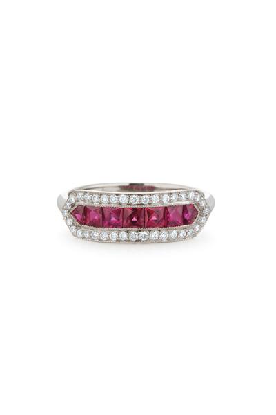 Kwiat - White Gold Ruby & Diamond Ring