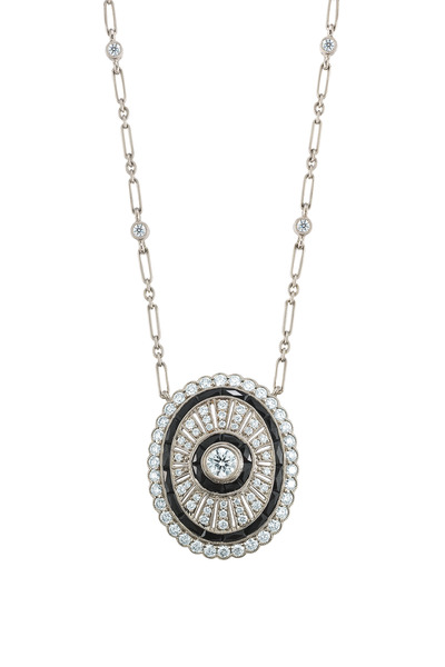 Kwiat - Whitge Gold Black Onyx & Diamond Necklace