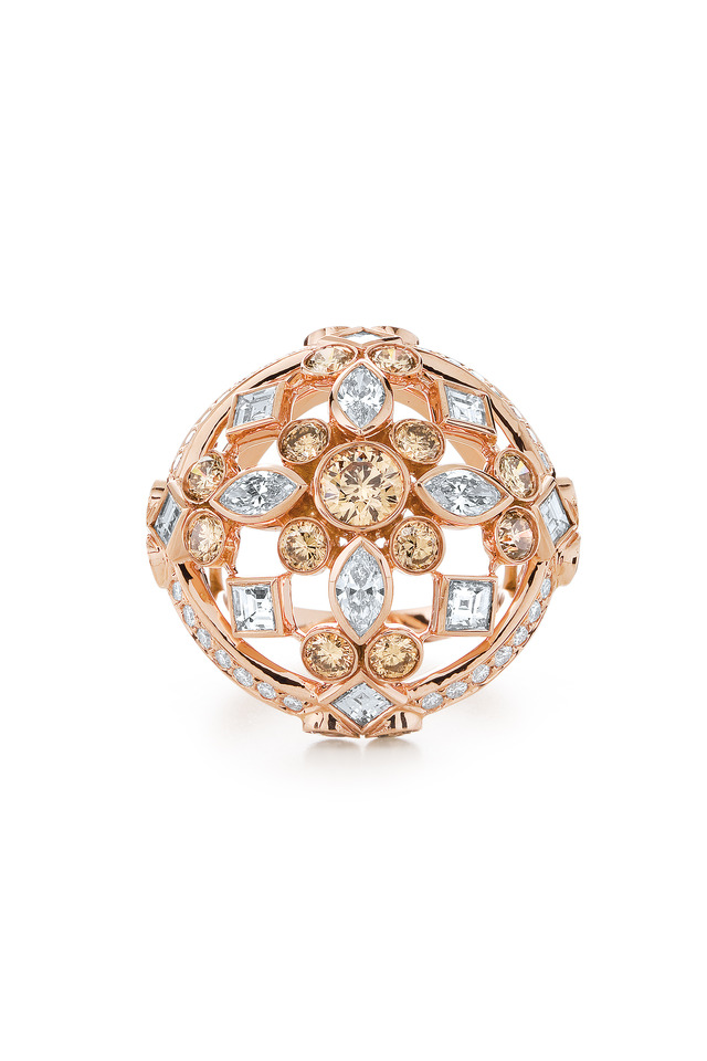 18K Rose Gold Diamond Cocktail Ring