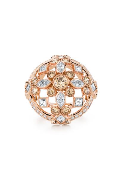 Kwiat - 18K Rose Gold Diamond Cocktail Ring