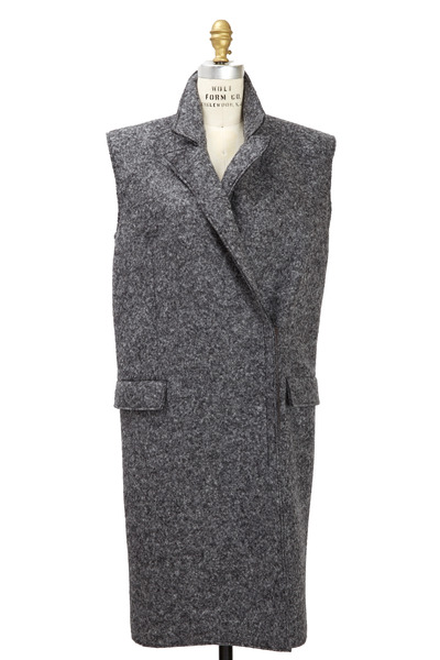 Lanvin - Sleeveless Grey Felted Wool Coat