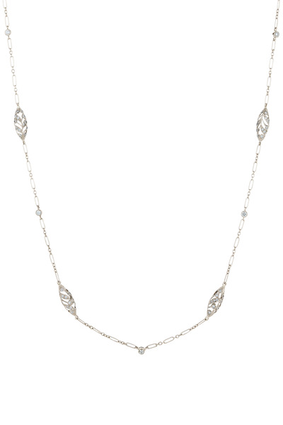 Kwiat - Vintage White Gold Diamond Chain Necklace
