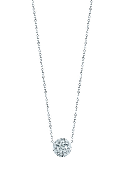 Kwiat - 18K White Gold Diamond Pendant Necklace