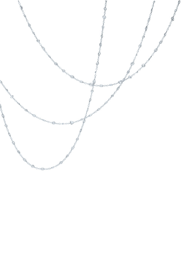 Strings Platinum White Diamond Necklace