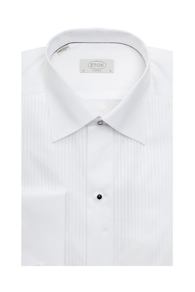Eton - White French Cuff Classic Fit Tuxedo Shirt