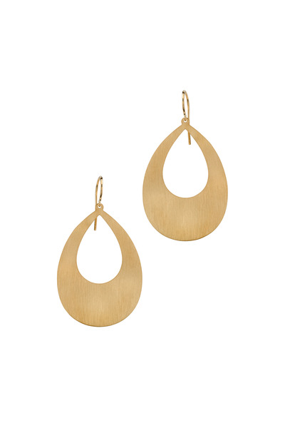 Irene Neuwirth - Rose Gold Flat Pearshape Earrings