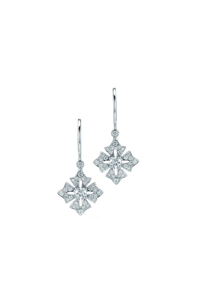 Kwiat - Maltese White Gold Diamond Earrings