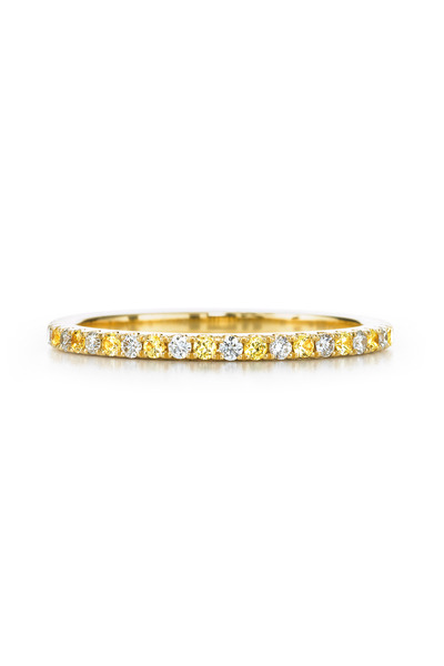 Kwiat - 18K Yellow Gold Diamond & Yellow Sapphire Band