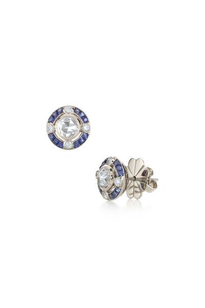 Kwiat - White Gold Diamond & Sapphire Earrings