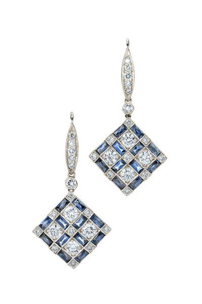 Kwiat - 18K White Gold Diamond & Blue Sapphire Earrings