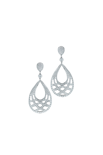 Kwiat - 18K White Gold Diamond Drop Earrings