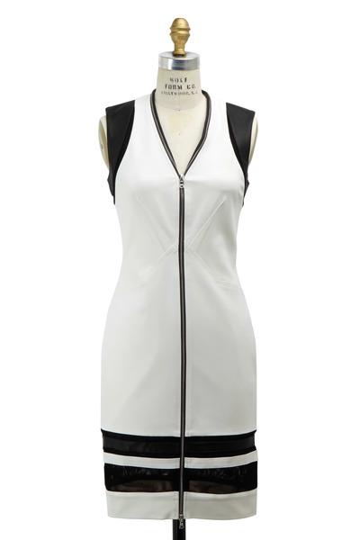 Yigal Azrouël - White & Black Techno Cotton Dress