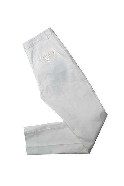 Dolce & Gabbana - White Cotton Slim Pants