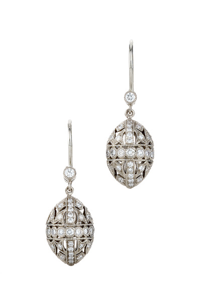 Kwiat - Vintage White Gold Diamond Earrings