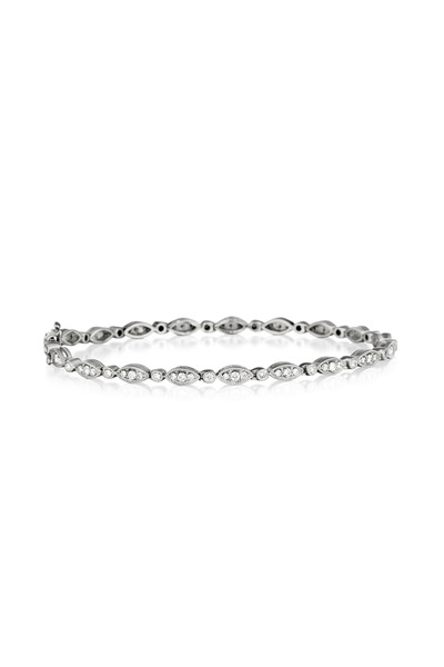 Penny Preville - White Gold Marquis And Diamond Line Bracelet