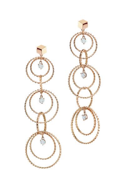 Paolo Costagli - 18K Rose Gold Diamond Circle Earrings