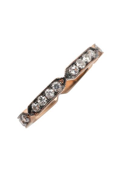 Sylva & Cie - 14K Rose Gold Diamond Pinch Band