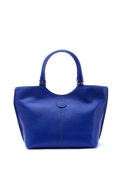 Tod's - Alu Piccola Bright Blue Leather Shopper