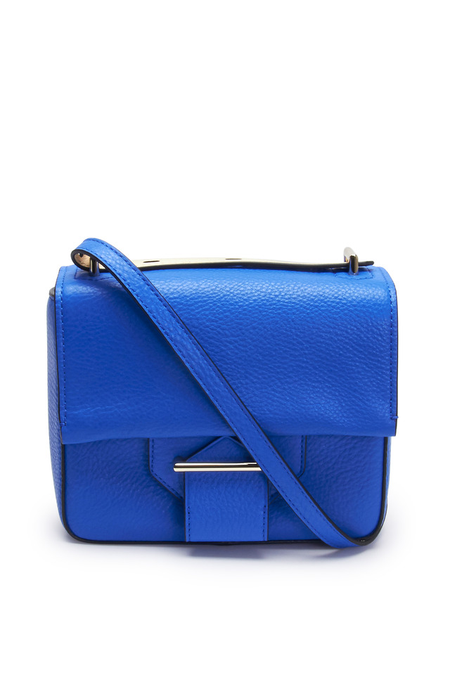 Standard Blue Pebbled Leather Shoulder Bag