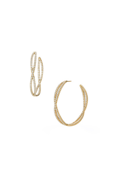 Kwiat - Yellow Gold Diamond Hoop Earrings