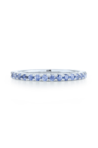 Kwiat - White Gold Blue Sapphire Stack Band