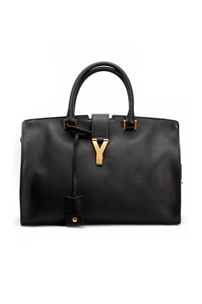 Saint Laurent - Ligne Y Black Leather Cabas Tote