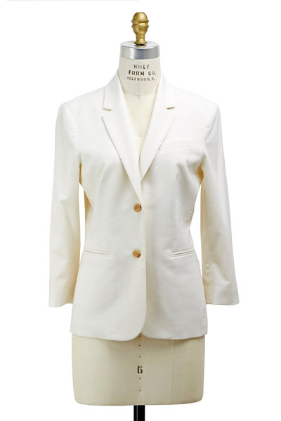 The Row - Schoolboy White Wool Jacket