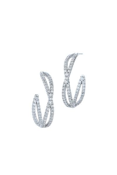 Kwiat - White Gold Diamond Hoop Earrings