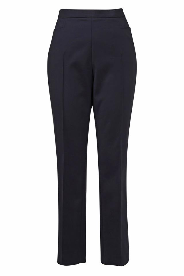 Franca Black Cotton Techno Highrise Pants