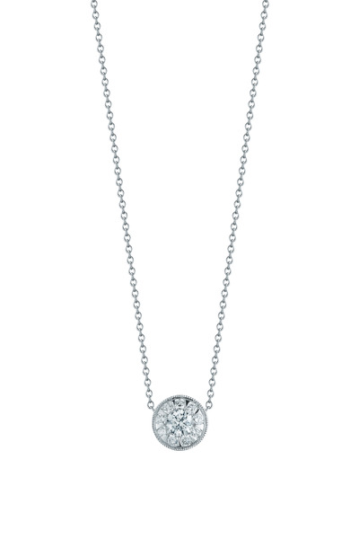 Kwiat - Sunburst White Gold Diamond Pendant