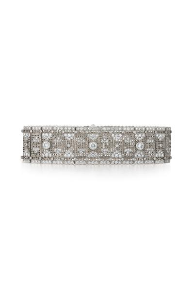 Kwiat - Vintage White Gold Wide Diamond Bracelet