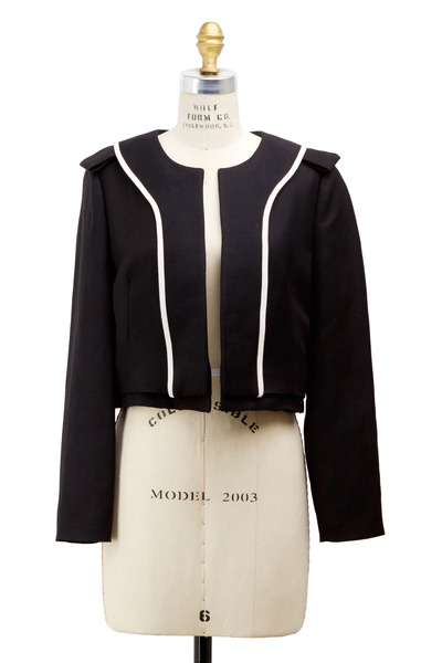 Chloé - Black Linen Cropped Jacket