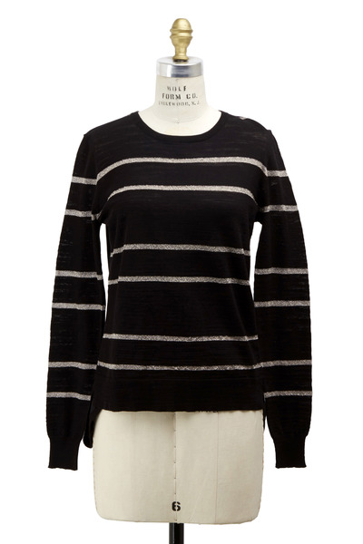 Veronica Beard - Black & Ivory Silk Pullover