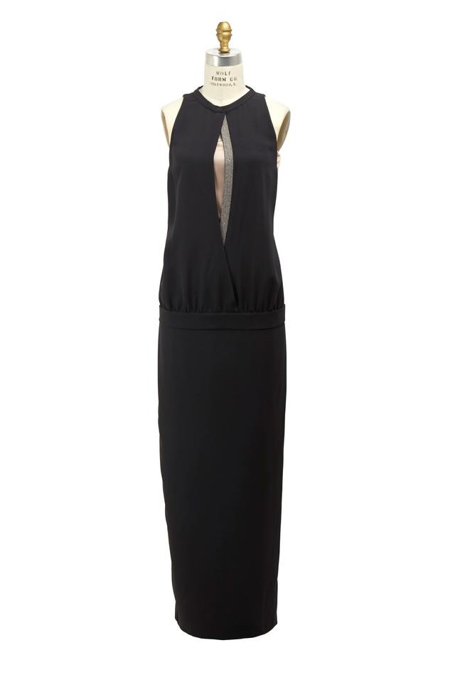 Volcano Silk & Crepe Monili Gown