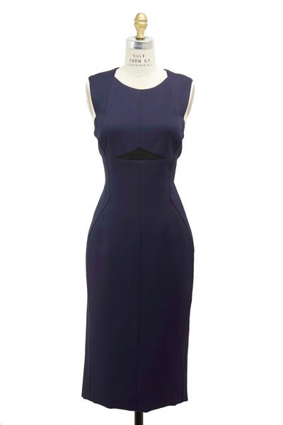 J. Mendel - Marine Techno Geometric Dress
