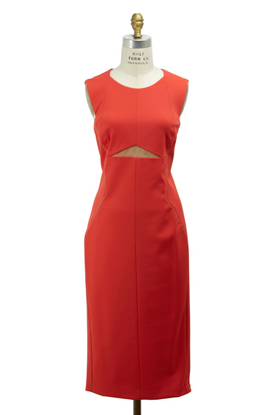 J. Mendel - Red Techno Dress