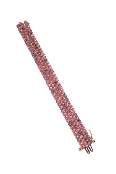 Paolo Costagli - Yellow Gold Pink Sapphire Bracelet