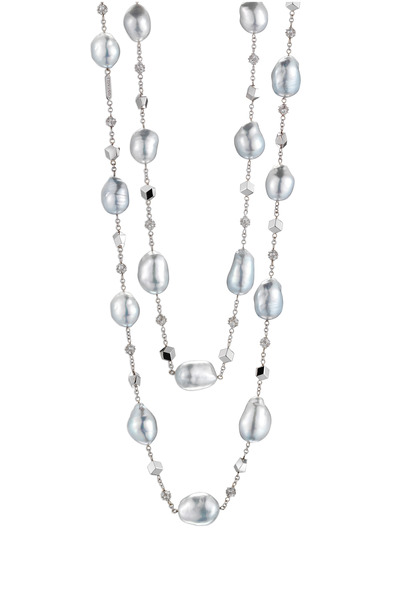 Paolo Costagli - White Gold Baroque Pearl Diamond Necklace