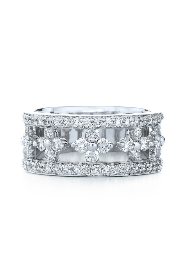 Jasmine White Gold White Diamond Ring