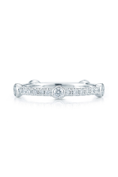 Kwiat - 18K White Gold Diamond Confetti Stackable Band