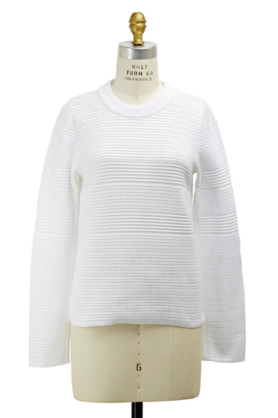Chloé - White Cotton Sweater