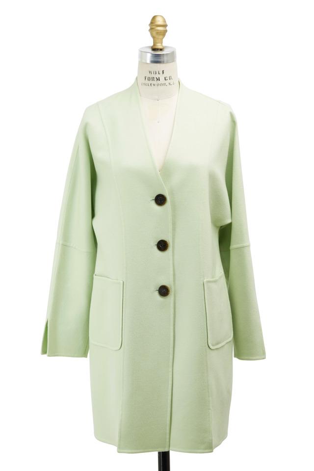 Mint Cashmere Double Face Coat